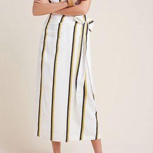 NWT ANTHROPOLOGIE Sancia Cibilie Stripe Wrap Skirt